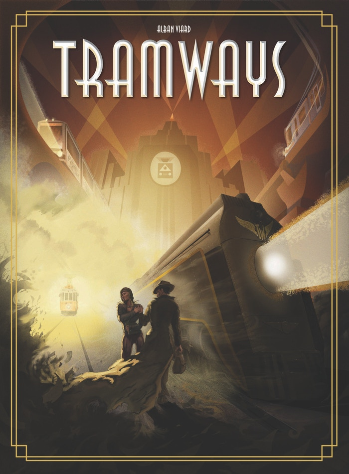 Pick up, deliver, win auctions, build networks, transport passengers, lead the transit revolution with the latest technology: TRAMWAYS!