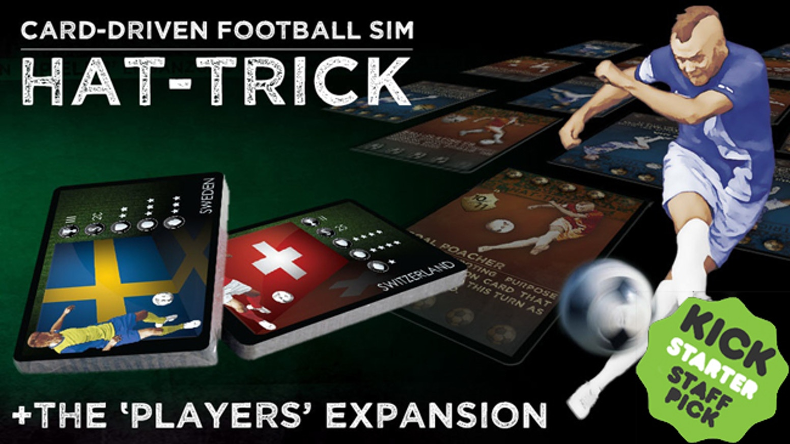 Strategy board game for football lovers. Use 44 player skills to recreate any team in the world or manage 1 of the 24 in-game teams.