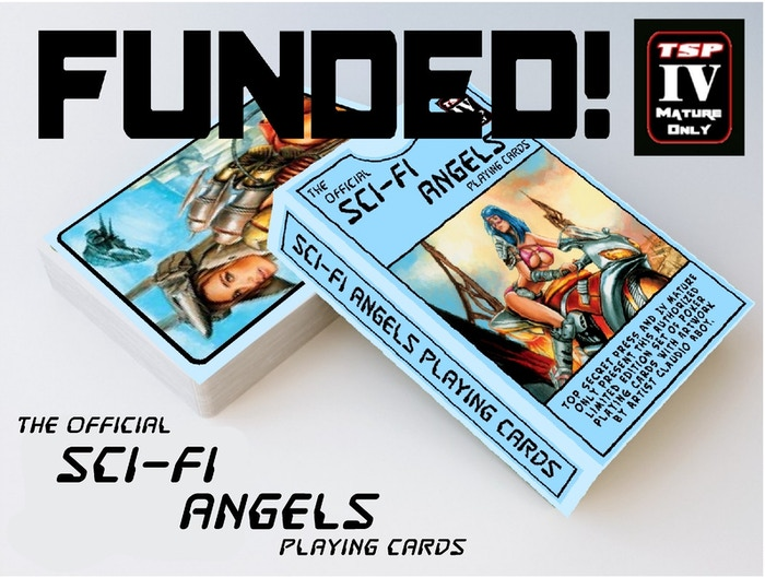 Support this special set of playing cards by Top Secret Press featuring the licensed art of Claudio Aboy,Heavy Metal Cover Artist.