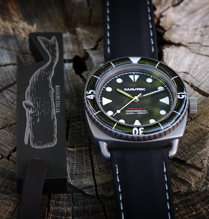"Grade 2 Titanium Nereus V - ""Black Shark"" - Swiss Automatic"
