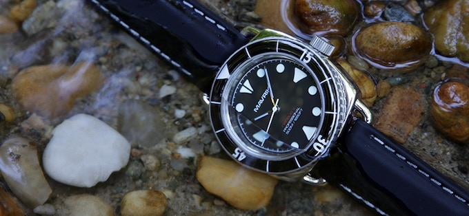 "316L Stainless Steel Nereus V - ""Black Shark"" - 4TS Quartz(TM)"