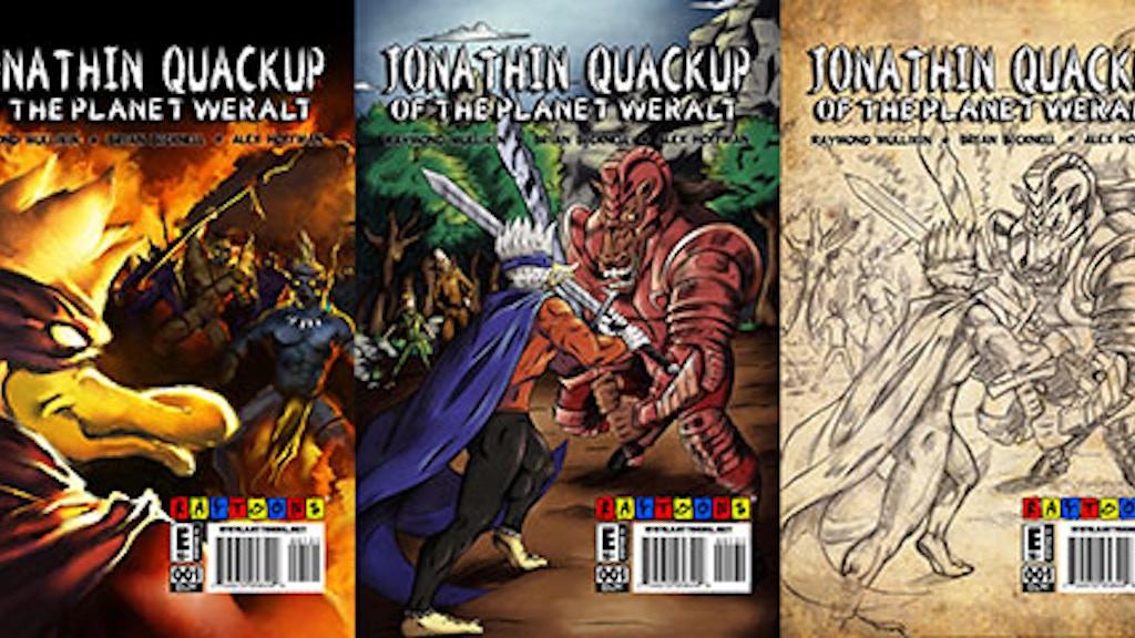 Jonathin Quackup #1 Alernative Comic Covers from Raytoons! project video thumbnail