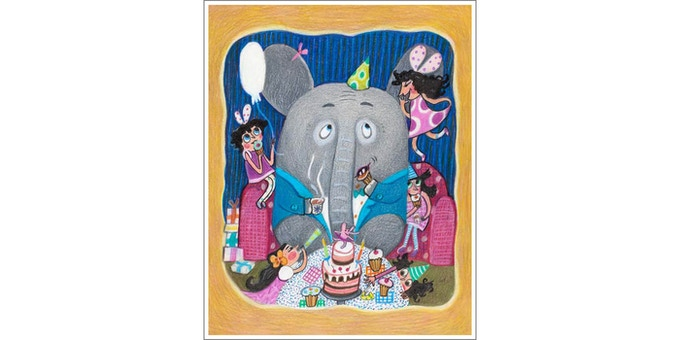 How cool is to have a REAL ELEPHANT at your birthday party!!