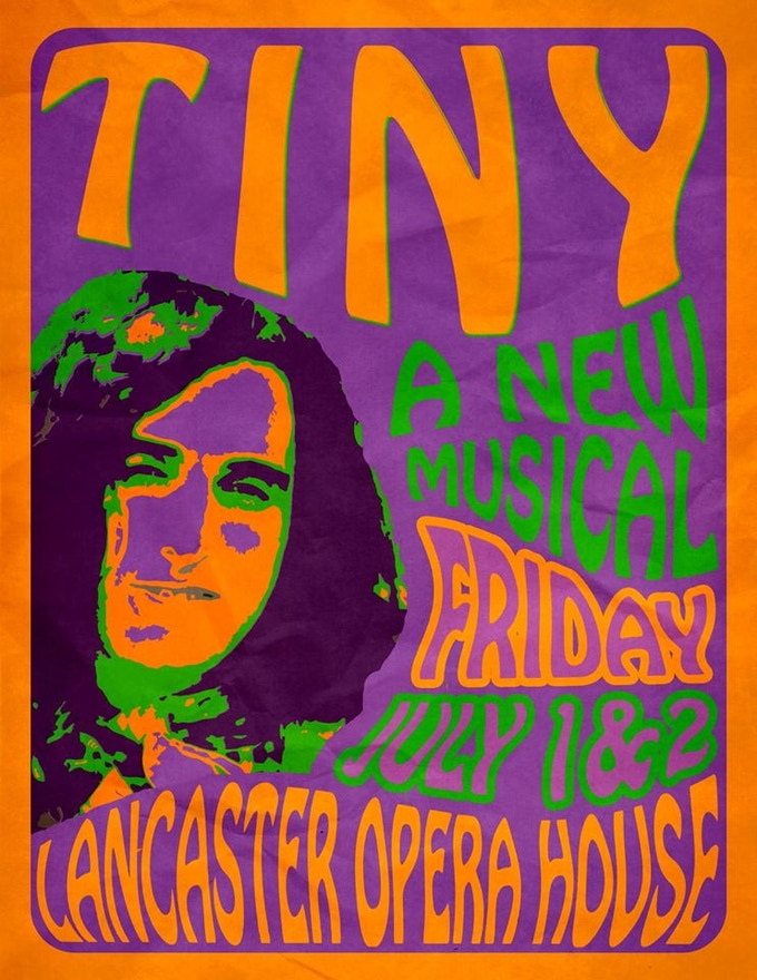 'Psychedelic TINY' 100lb glossy poster!