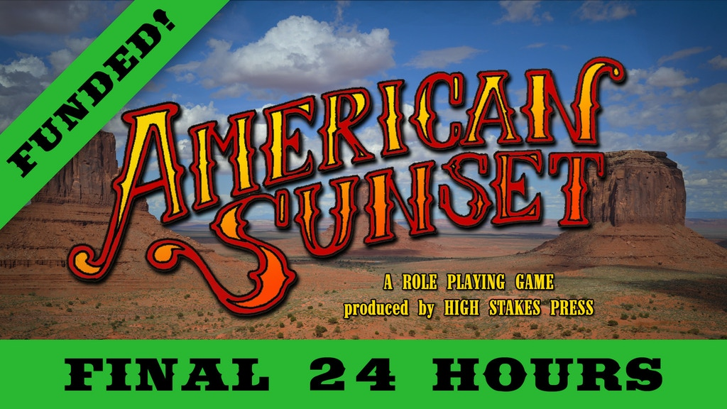 American Sunset - A Wild West Tabletop Roleplaying Game project video thumbnail