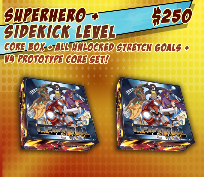 Justice Level Pledges may add an additional $200 to their pledge to also receive a v4 Prototype Core Set. Prototype Core Set will ship September 2016. Have the game in hands in 3 months!