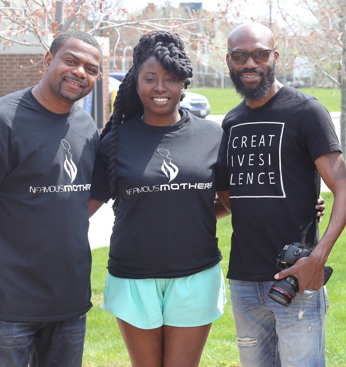 Tosumba Welch, Founder's Partner (Left), Tanisha Pyron, Assistant Photographer (Center) and Chris Charles, Lead Photographer (Right)