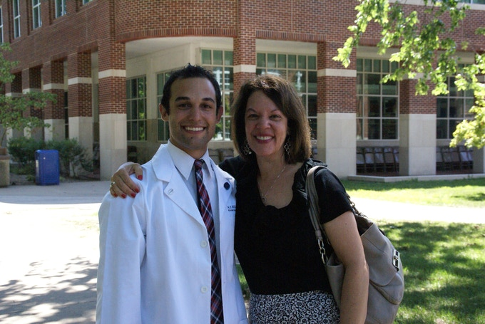 Michele Dietl with son, Kevin, who took his life weeks before he was to graduate medical school.