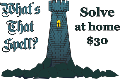 What's That Spell? Solve at home, $30