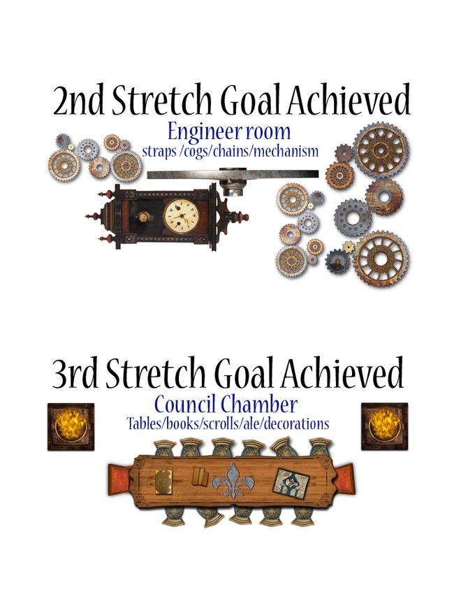 2nd and 3rd stretch goals