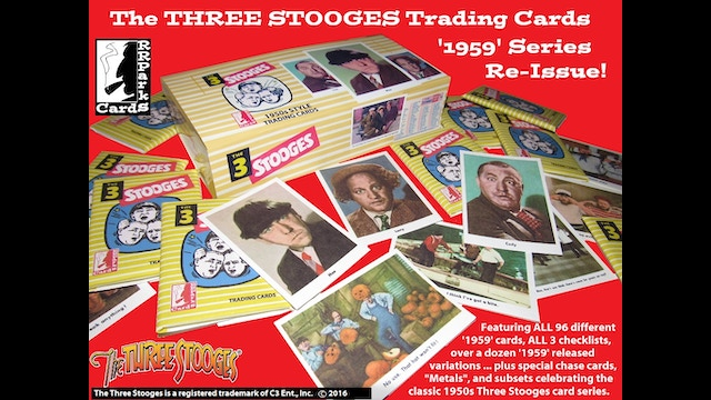 the three stooges 1959 trading card series reissue by. Black Bedroom Furniture Sets. Home Design Ideas