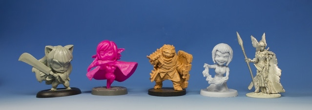 Mini's from Impact Miniatures, Super Dungeon Explore, Tank from Wander, Arcadia Quest, and Bombshell Babes