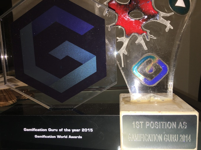 "Yu-kai Chou was rated ""#1 Gamification Guru"" and ""Gamification Guru of the Year"" by organizations in Europe."