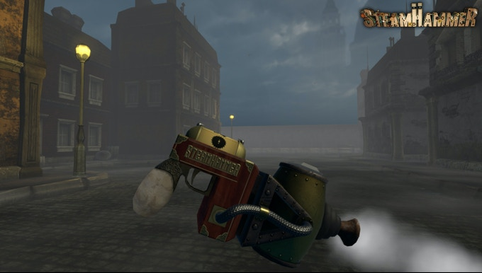 A ranged weapon, the SteamCannon