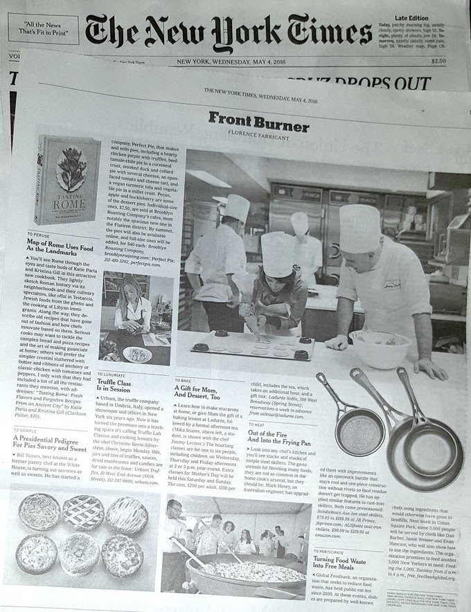 This article in the New York Times was great for building awareness of our new Australian cookware industry in the USA. Click for more info: http://www.solidteknics.com/blog/new-york-times-covers-our-australian-iron-cookware