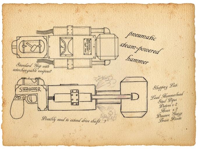 Dr Springhorn's original SteamHammer schematics!