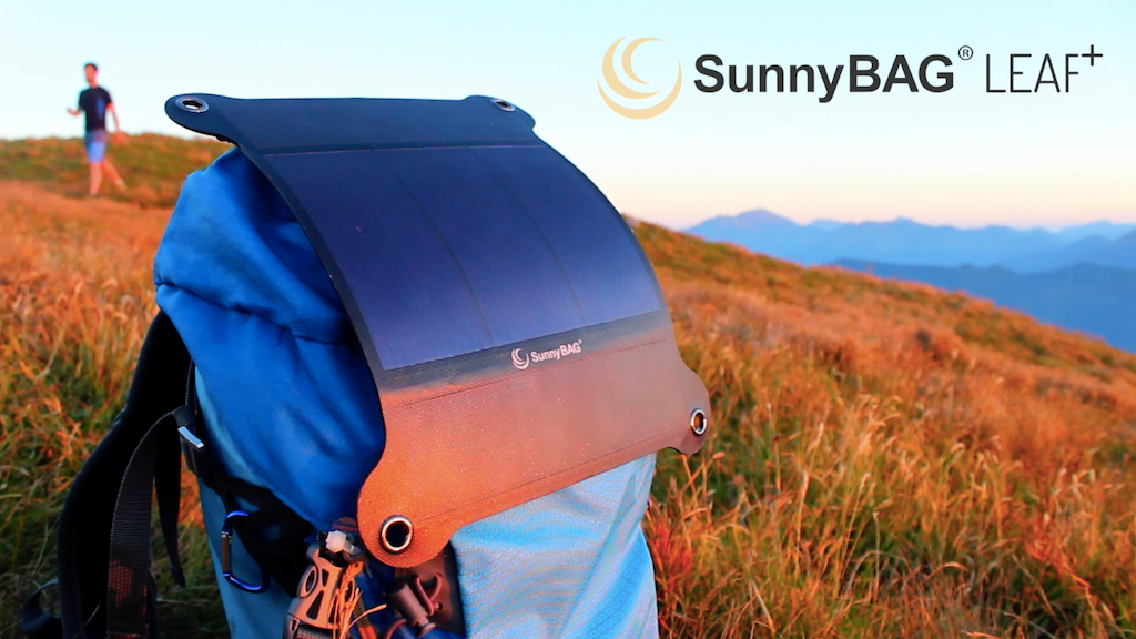 SunnyBAG LEAF+ The world's strongest and lightest solarpanel project video thumbnail
