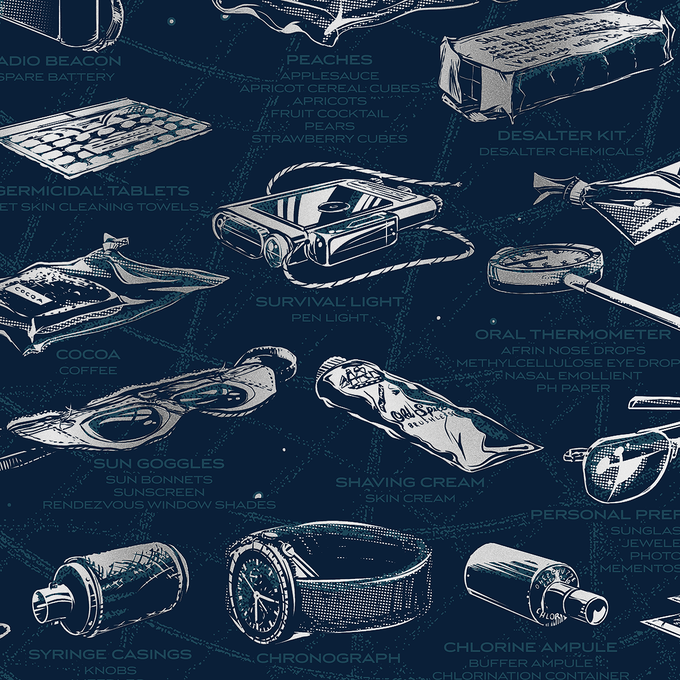 Close-up view of The Apollo 11 Collection poster.