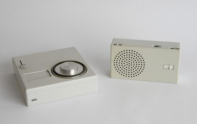 Braun P 1 portable phonograph and T 4 radio, 1959