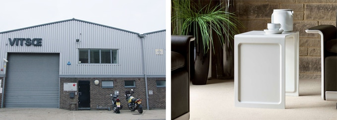 Vitsoe London workshop tour and 621 Table. Small size, white or black. SOLD OUT