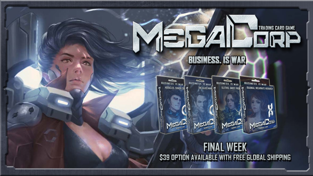 Final day! MEGACORP: Cyberpunk Business Card Game project video thumbnail