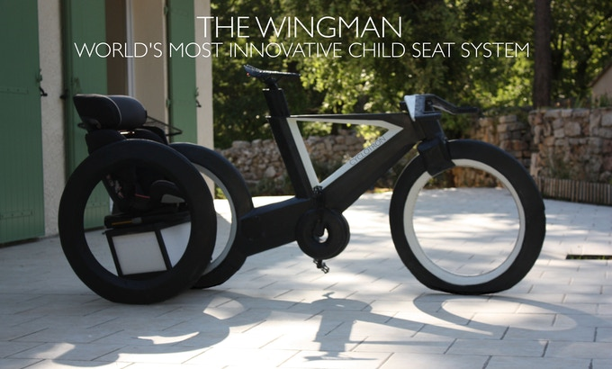 The Cyclotron with Wingman child seat