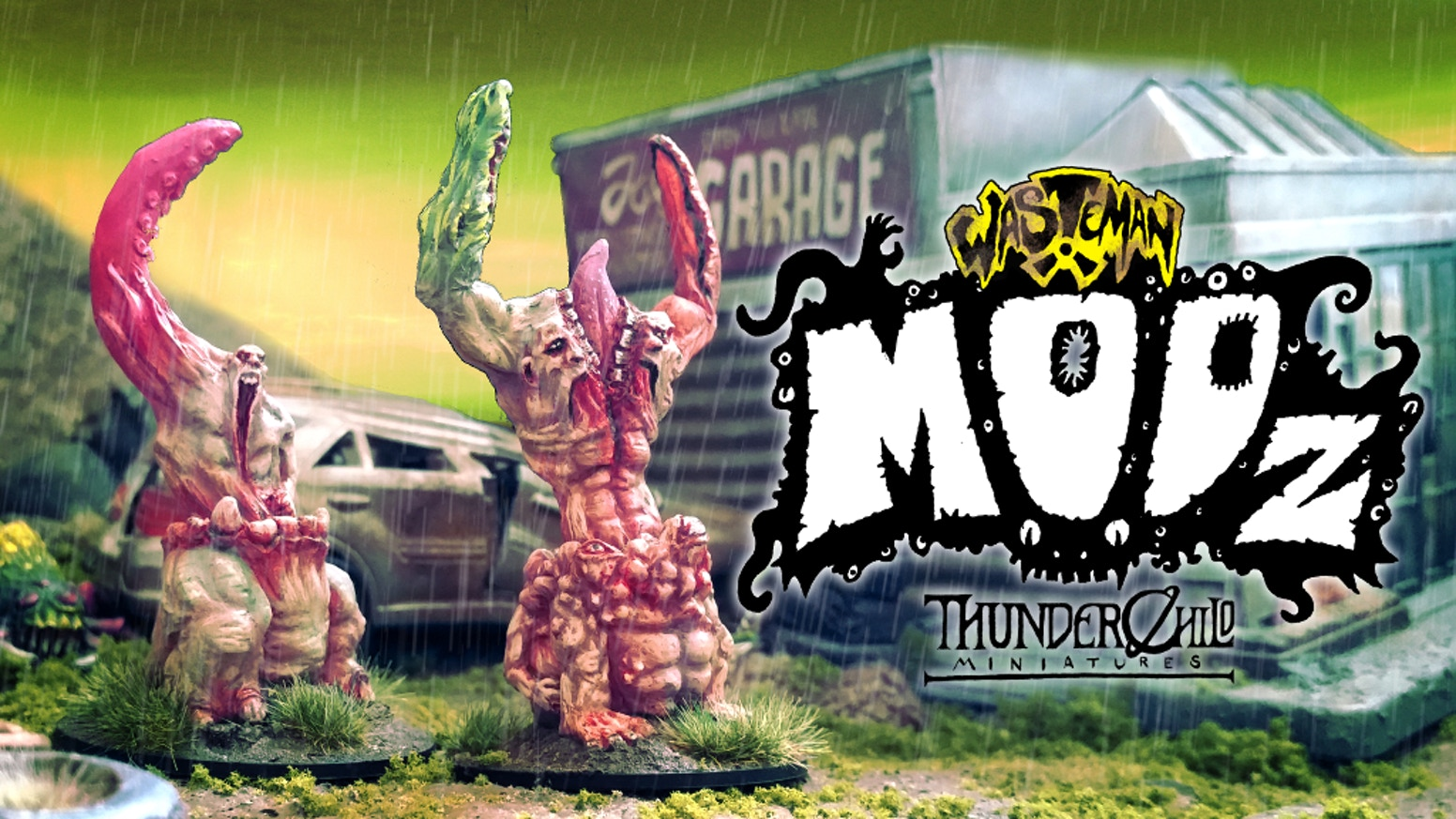 A range of interchangeable mutant miniatures design for Wasteman: A Game of desperate conflicts in a desolate future!