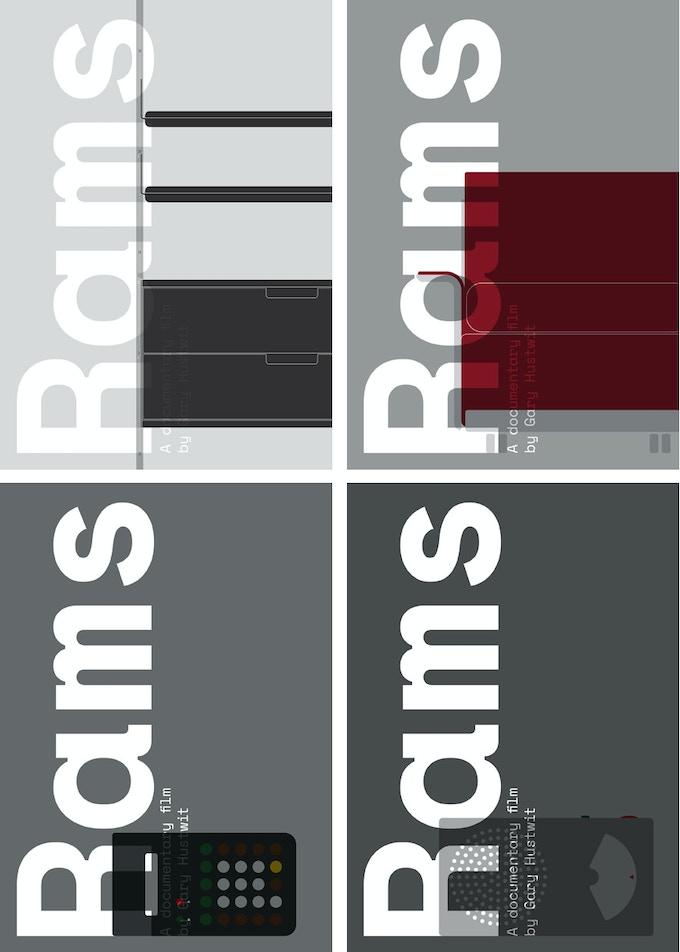 Limited-edition silkscreen prints designed by Build. Clockwise from top left: Vitsoe 606, Vitsoe 620, Braun T 41, Braun ET 66. ($150 each)