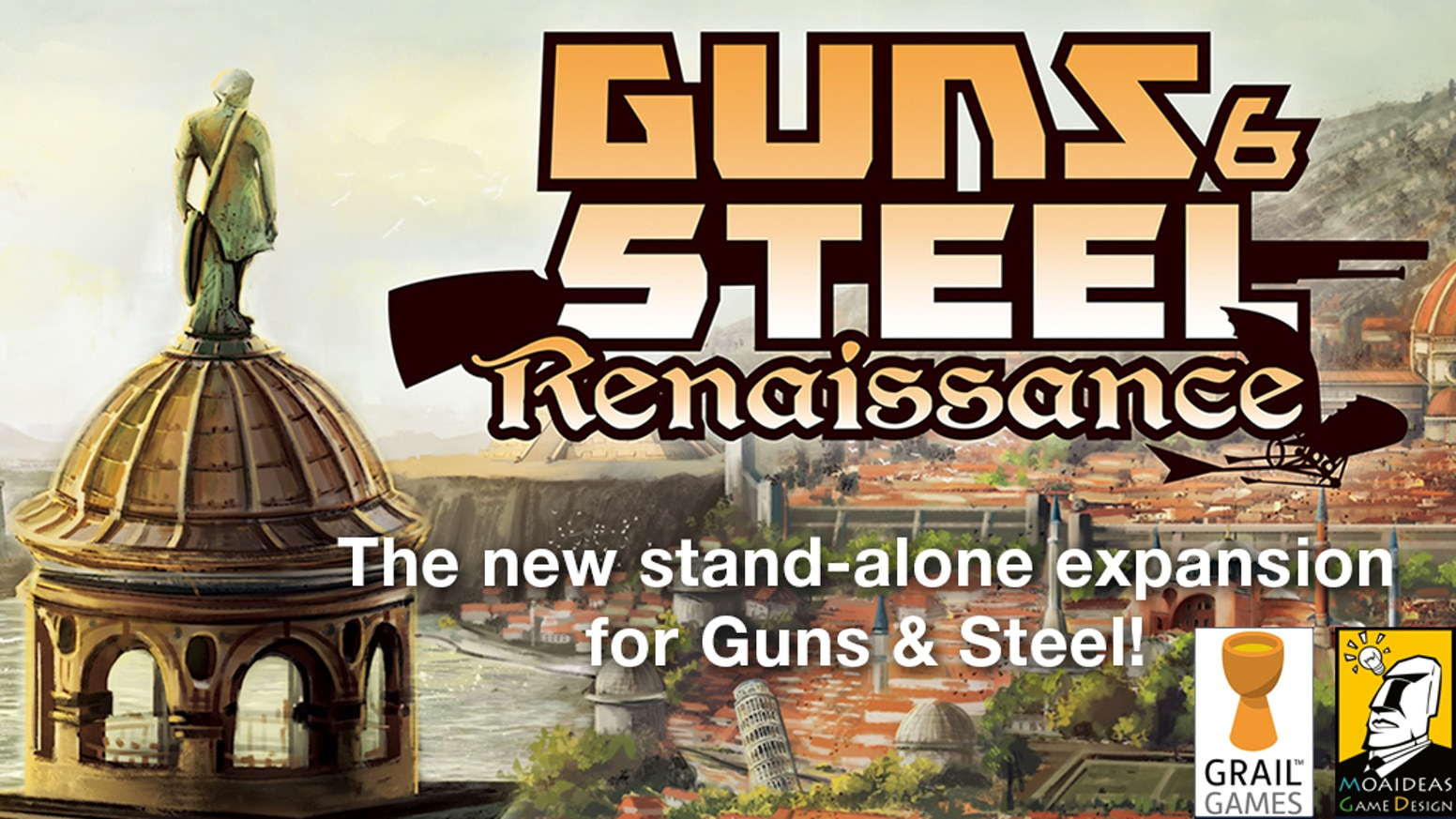 Guns & Steel: Renaissance is a new stand-alone expansion for the popular card game Guns & Steel. Build and protect your empire...again!