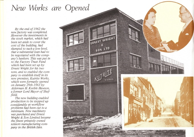 New Factory Opens 1962