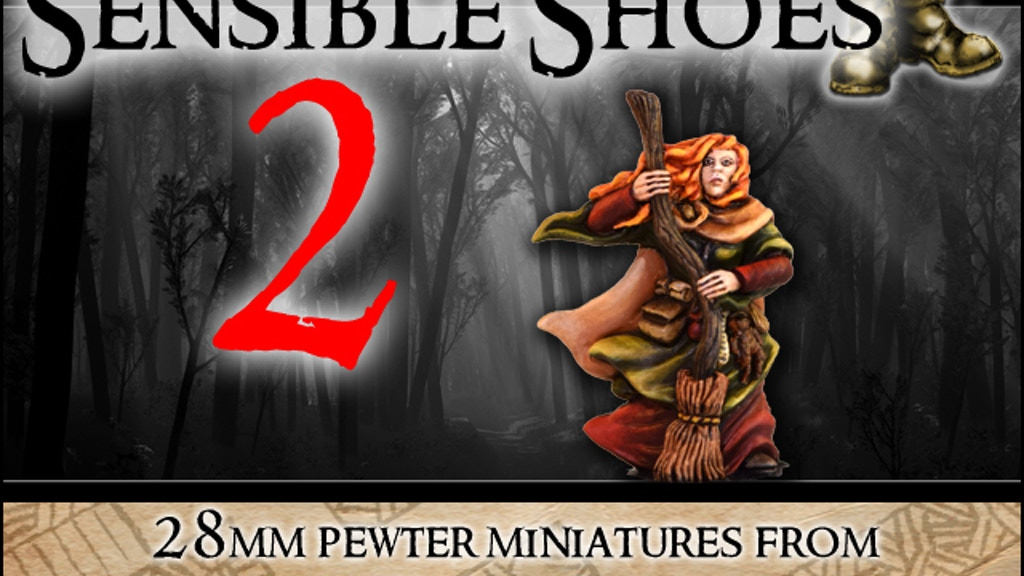 Sensible Shoes 2 - female 28mm gaming miniatures project video thumbnail
