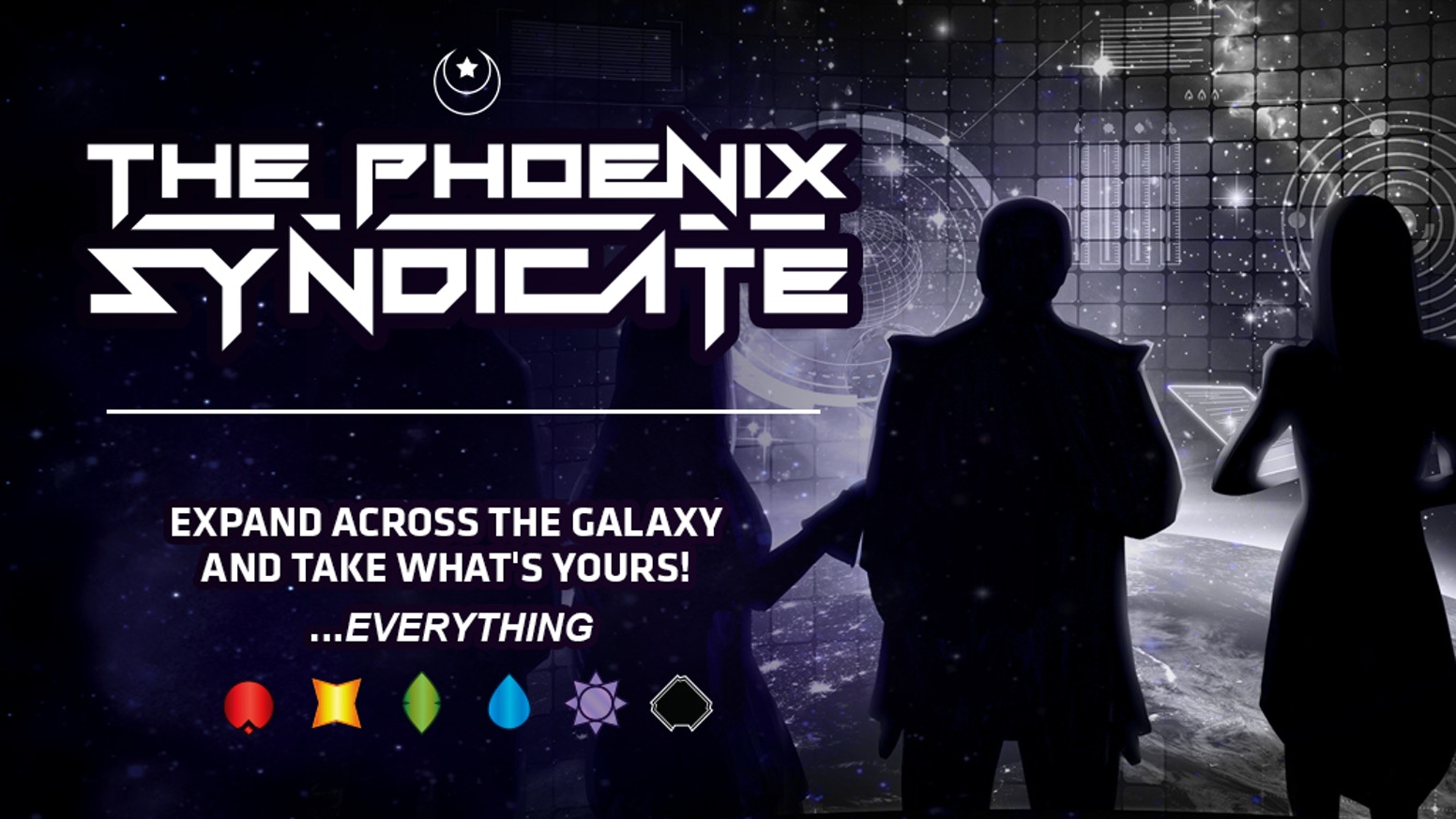 Spread a shadowy network of agents across the galaxy, secure trade routes, and infiltrate guilds. Rise as the new Phoenix Syndicate! Shipping in late September, pre-orders are now available!