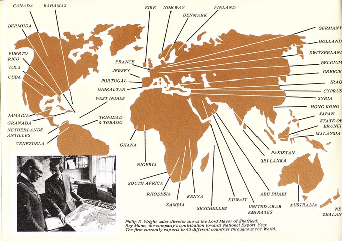 Export Map in 1977