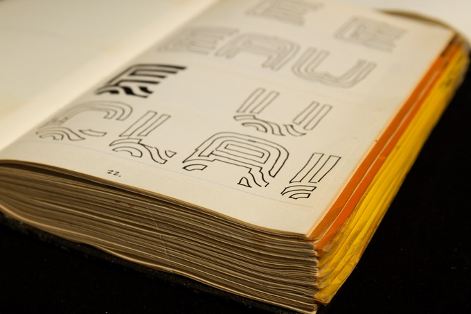 Lance Wyman uses his 'designlogs' as a way of documenting his creative processes.