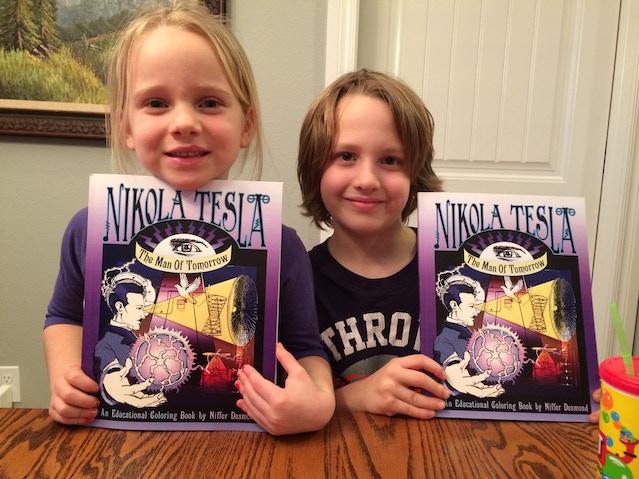 The Nikola Tesla Coloring Book STRETCH GOAL By Niffer Desmond