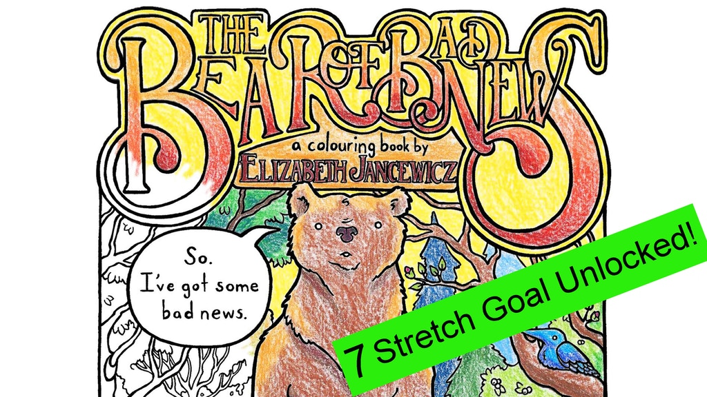 """""""The Bear of Bad News"""" coloring book by Elizabeth Jancewicz project video thumbnail"""