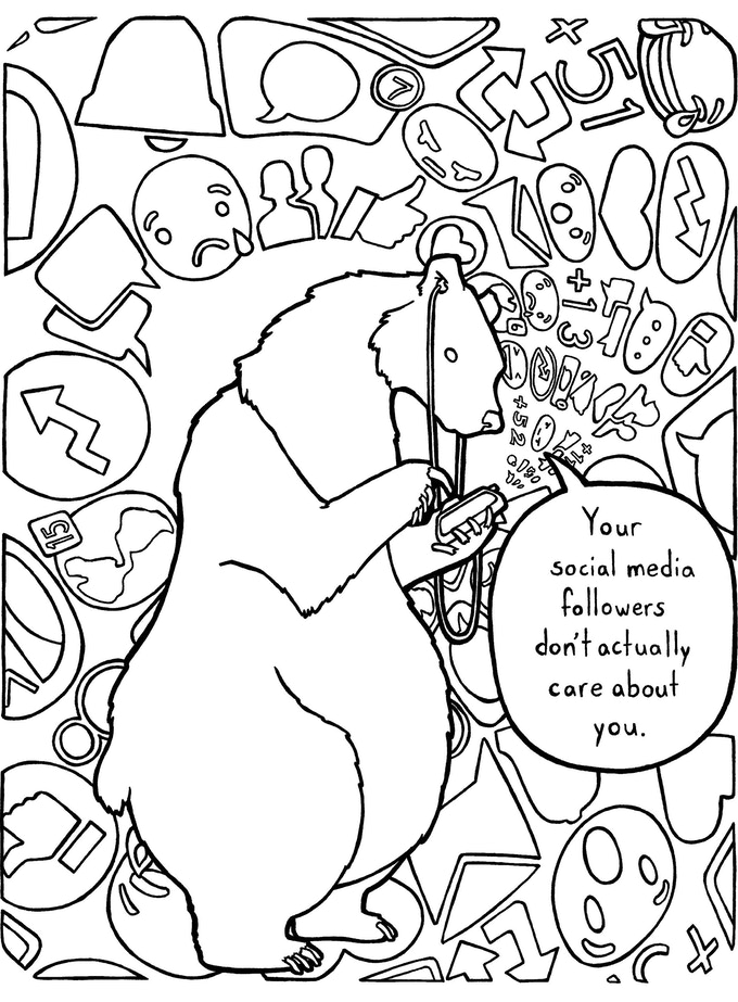 The Bear Of Bad News Coloring Book By Elizabeth Jancewicz Eric