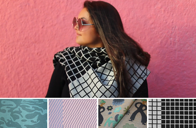 WOVNS Scarf, shown in Mosaic. Select from 4 patterns.
