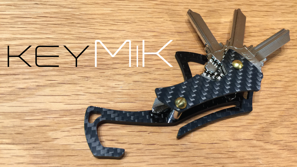 KeyMiK | The Ergonomic Carbon Fiber Key Organizer project video thumbnail