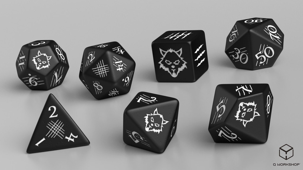Project image for Polyhedral RPG Set: 7 Dark Wolf Dice (Canceled)