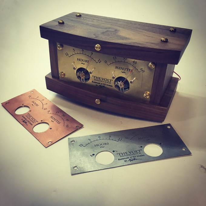 Choose from the 3 faceplate options: Steel, Brass, and Copper (Copper only available at this tier)