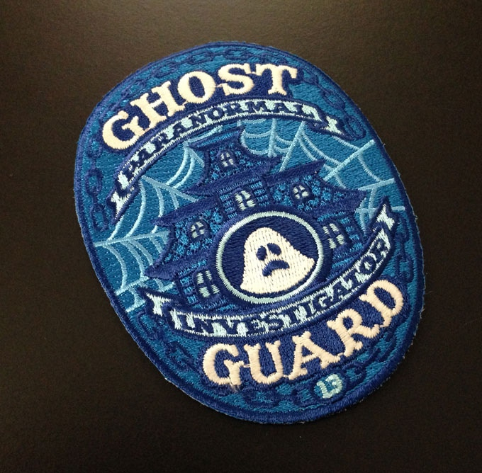 Paranormal Investigator glow-in-the-dark patch.