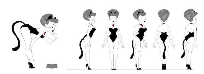 The original turnaround for Gen's figure!