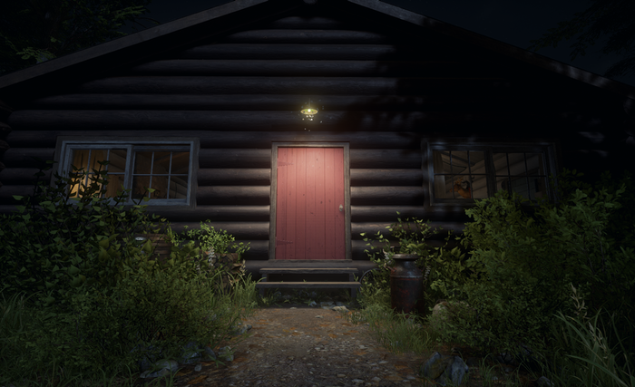 Get ready to step inside the cabin...