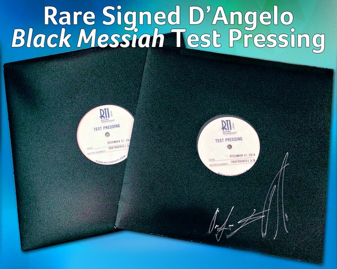 D'Angelo and The Vanguard SIGNED Vinyl Test Pressing of Black Messiah