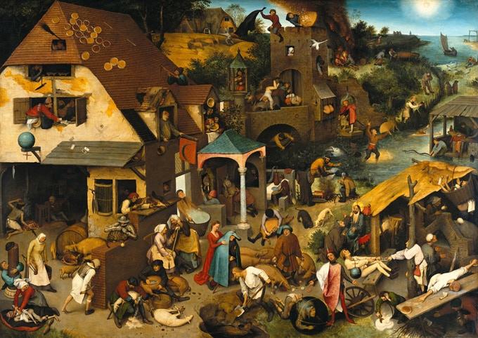 Pieter Bruegel the Elder. (1559) Netherlandish Proverbs.