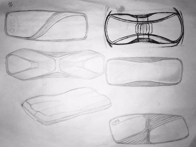 Initial EXO prototype sketches
