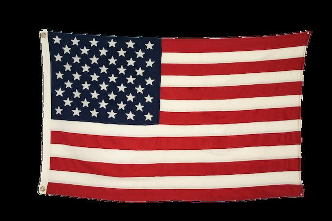 "Signature ""Sewn"" Wool American Flag"
