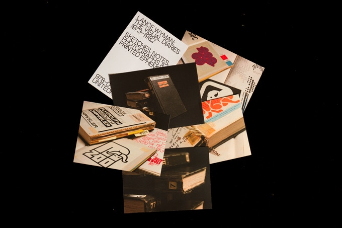 Set of five postcards featuring Lance Wyman's The Visual Diaries 1973—1982
