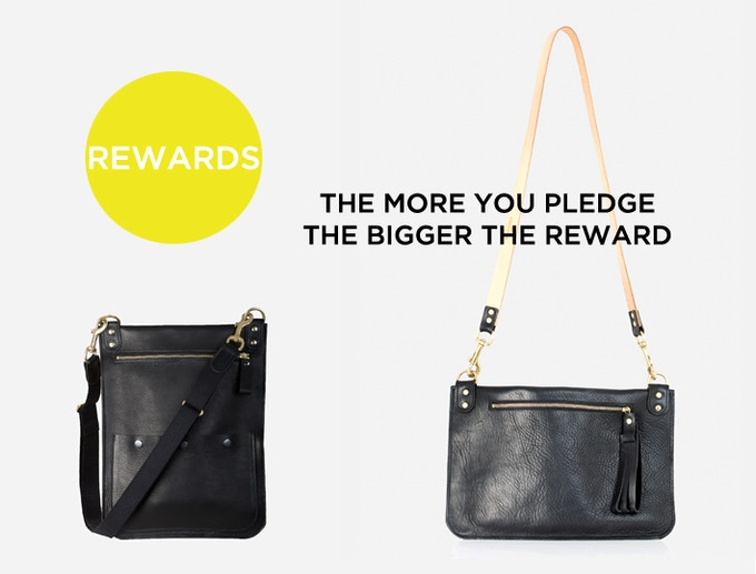 When you pledge £200 you can choose between a Quarry Bag for men, and Van der Rohe bag for women.